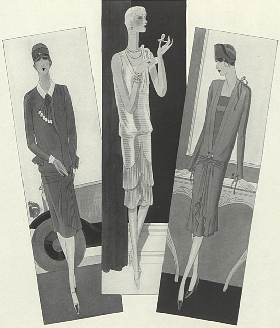 """A Paris Spring Wardrobe by Patou: Selected and Duplicated by Bonwit Teller & Co., April 1, 1927 issue of Vogue"